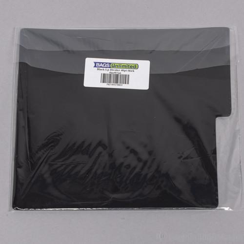 Bu Dlpp40K5Pk LP Blk Divider Card 12X13 40 Gg 5 Pk - Bags Unlimited DLPP40K5PK - 12 Inch LP Record Divider Cards - 12 1/8 X 13 1/8 inches - .040 mil Polystyrene - 5 Pack (Black)