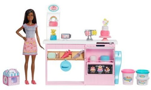 - Mattel - Barbie Cake Decorating Playset, African American