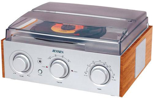 Jensen Jta-220 3-Speed Turntable (Am/Fm Receiver) - Jensen JTA-220 3-Speed Turntable (AM/FM Receiver)