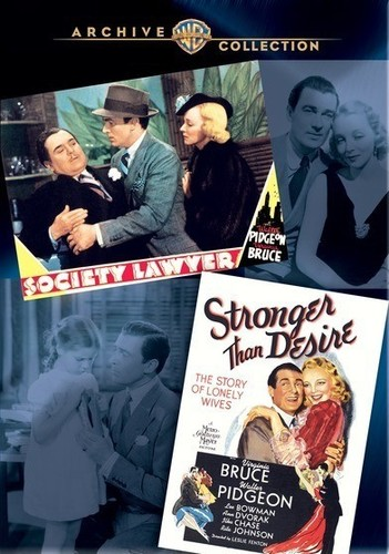 Society Lawyer /  Stranger Than Desire (Walter Pidgeon Double Feature)