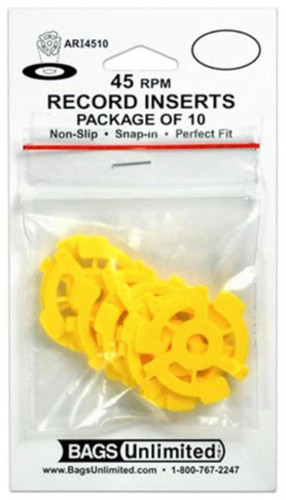Bu Scd-64 4 Mil Poly CD Sleeve-No Flap-100 Count - Bags Unlimited Ari4510 45rpm Yellow Rec.Insert-10