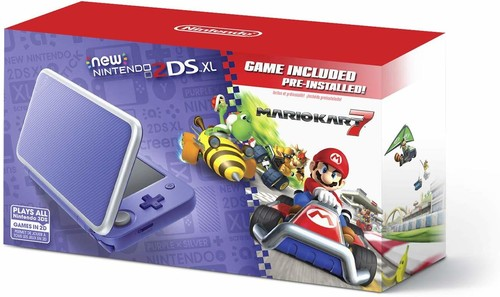 2Ds System New Xl: Purple + Silver - Mk 7 Bndl - Nintendo New 2DS XL: Silver and Purple - Mario Kart 7 Bundle