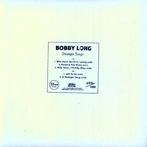 """Bobby Long - Stranger Songs (10"""")"""