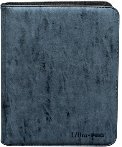 Ultra Pro Suede 9 Pocket Zippered Pro-Binder - Ultra Pro Sapphire Suede Collection 9 Pocket Zippered PRO-Binder