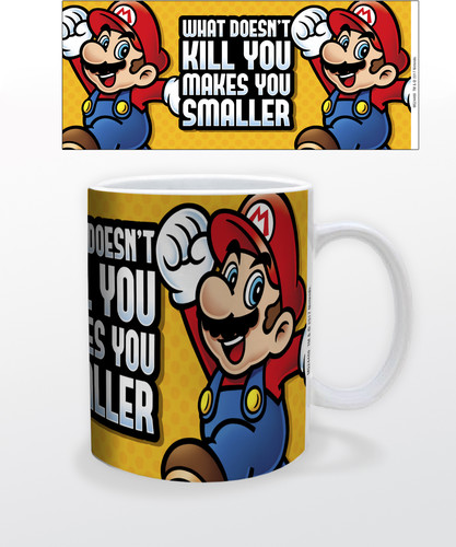 Super Mario Makes You Smaller 11 Oz Mug - Super Mario Makes You Smaller 11 oz mug