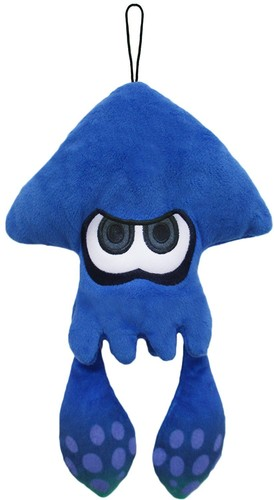 "- Little Buddy Splatoon Inkling Squid 9"" Plush - Blue"