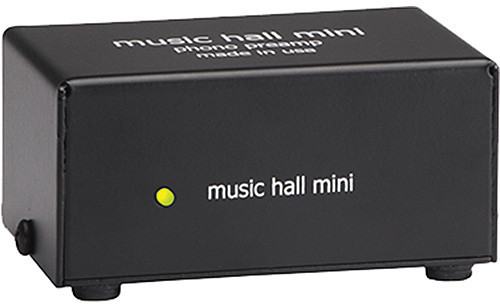 - Music Hall Audio Mini Solid State Phono Amplifer For Moving Magnet and Moving Coil Cartridges - Steel Chassis (Black)