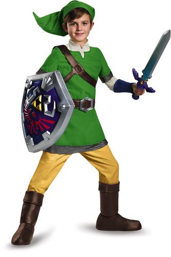 Legend of Zeld - Nintendo The Legend of Zelda: Link Deluxe (Child Size Medium, 7-8)