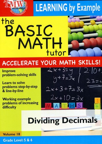 Basic Math Tutor Learning By Example - Dividing Decimals