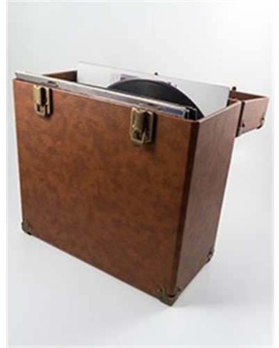Gpo Swb18Bro 12 in Vinyl Record Case Brown - GPO SWB18BRO 12 IN Vinyl Record Case Brown