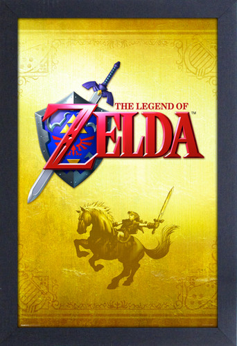 Zelda Gold 11X17 Framed Gel Coat Print - Zelda Gold 11x17 Framed Gel Coat Print