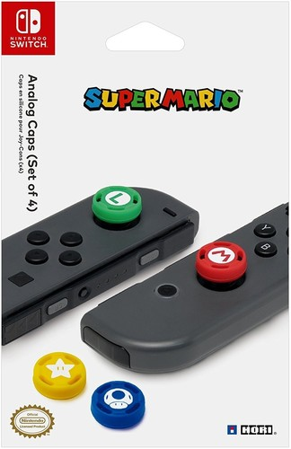 - HORI Analog Caps - Super Mario Edition for Nintendo Switch