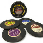 Vintage Record 3.5 Inch Coasters 4-Pack