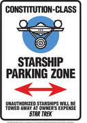 Star Trek Starship Parking Tin Sign