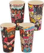 Beatles Album Collage 2 pc. 24 oz. Bamboo Cup Set