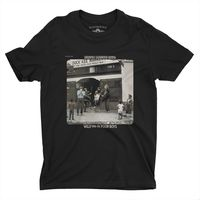 Creedence Clearwater Revival - Creedence Clearwater Revival Willy And The Poor Boys Album Cover Artwork Black Heavy Cotton Style T-Shirt (Large)