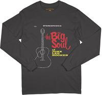John Lee Hooker - John Lee Hooker The Big Soul Of John Lee Hooker Stereophonic Album Cover Black Long Sleeve T-Shirt (Large)
