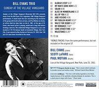 Bill Evans - Sunday At The Village Vanguard