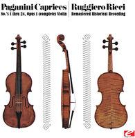 RUGGIERO RICCI - Paganini: 24 Caprices For Solo Violin, Op.1 (Rmst)