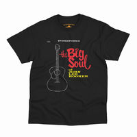 John Lee Hooker - John Lee Hooker The Big Soul Of John Lee Hooker Stereophonic Album Cover Black Heavy Cotton Style T-Shirt (XL)