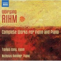 Nicholas Rimmer - Complete Works For Violin & Piano