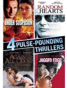 4 Pulse-Pounding Thrillers: Under Suspicion /  Random Hearts /  Against All Odds /  Jagged Edge