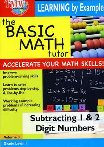 Basic Math Tutor Subtracting 1 & 2 Digit Numbers