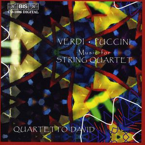String Quartet E minor /  Crisantemi /  3 Fugues
