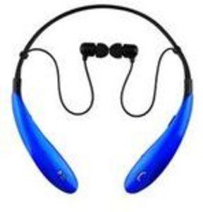 Supersonic IQ127BT Bluetooth Wireless Neckband Earphones Mic Blue