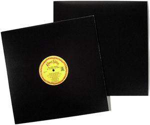 """Bags Unlimited SLPJHK 12"""" Black Cardboard LP Jacket-w/ hole"""