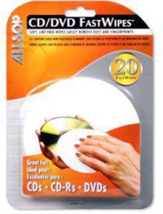 ALLSOP 50100 FASTWIPES CD/ DCD CLEANING CLOTH 20 PK