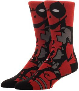 Marvel Comics Deadpool 360 Crew Socks Men's 8-12