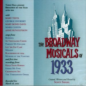 Broadway Musicals Of 1933