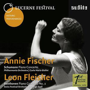 Annie Fischer & Leon Fleisher play Schumann & Beethoven PianoConcertos
