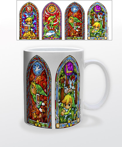 Zelda Stained Glass 11 Oz Mug - Zelda Stained Glass 11 oz mug
