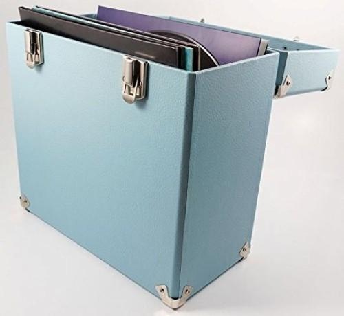 Gpo Swb18Blu 12 in Vinyl Record Case Blue - GPO SWB18BLU 12 IN Vinyl Record Case Blue
