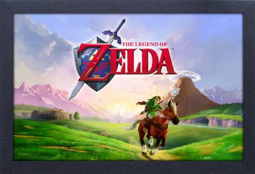 Zelda Gallop 11X17 Framed Gel Coat Print - Zelda Gallop 11x17 Framed Gel Coat Print