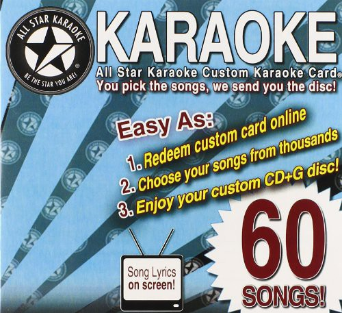 Karaoke: 60 Song Custom Karaoke Card