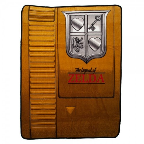 Nintendo Zelda Gold Cartridge Throw - Nintendo Legend Of Zelda Gold Cartridge Fleece Throw