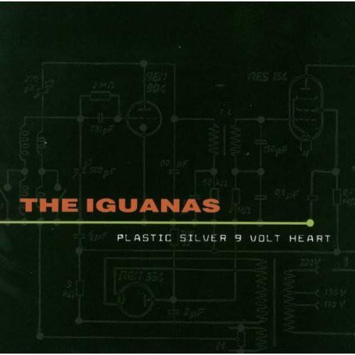Iguanas - Plastic Silver 9 Volt Heart