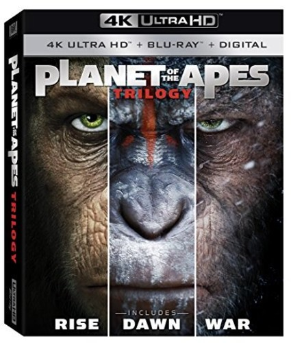 Planet of the Apes Trilogy [4K Ultra HD Blu-ray/Blu-ray]