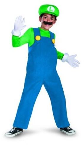 Super Mario - Nintendo: Super Mario: Luigi (Size Child Small, 4-6)