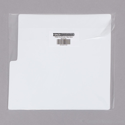Bu Dlpp305Pk LP Dividers White 30 Gg Wht 5Pk - Bags Unlimited DLPP305PK - 12 Inch LP Record Divider Cards - 12 1/8 X 13 1/8 inches - .030 Polystyrene - 5 Pack (White)