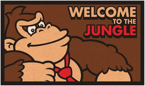 Donkey Kong Welcome to the Jungle Doormat - Donkey Kong Welcome to the Jungle Doormat