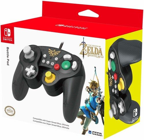 - HORI Battle Pad Gamecube Style Controller - Zelda Edition for Nintendo Switch