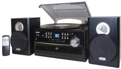 Jensen Jta-475 Turntable (CD/Cassette Am/Fm) - Jensen JTA-475 Turntable Music Entertainment System 3-Speed (33/45/78 RPM) Belt Drive - Automatic With CD Player, Cassette Playe