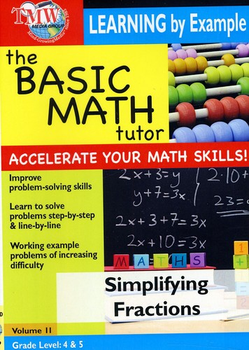 Basic Math Tutor Learning By Example - Simplifying Fractions