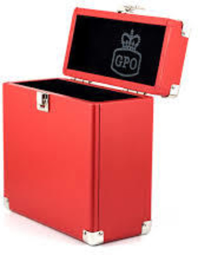 - GPO SWB18Red 12 IN Vinyl Record Case Red