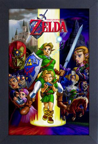 Zelda Ocarina 11X17 Framed Gel Coat Print - Zelda Ocarina 11x17 Framed Gel Coat Print