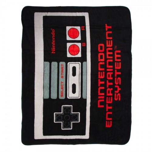 - Nintendo Controller Fleece Throw